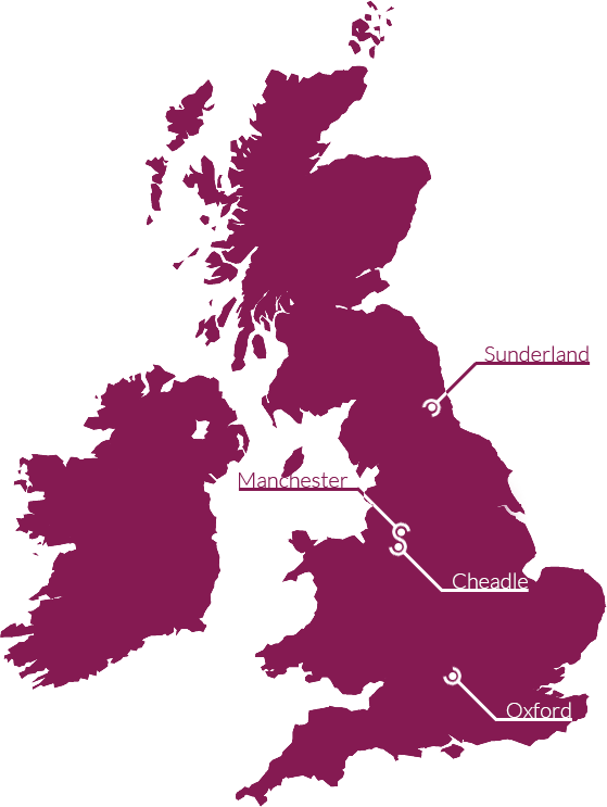 Our offices - UK map