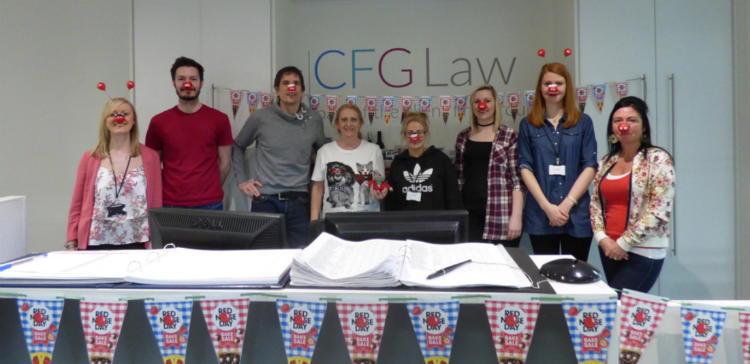 CFG Law colleagues raise money for Red Nose Day