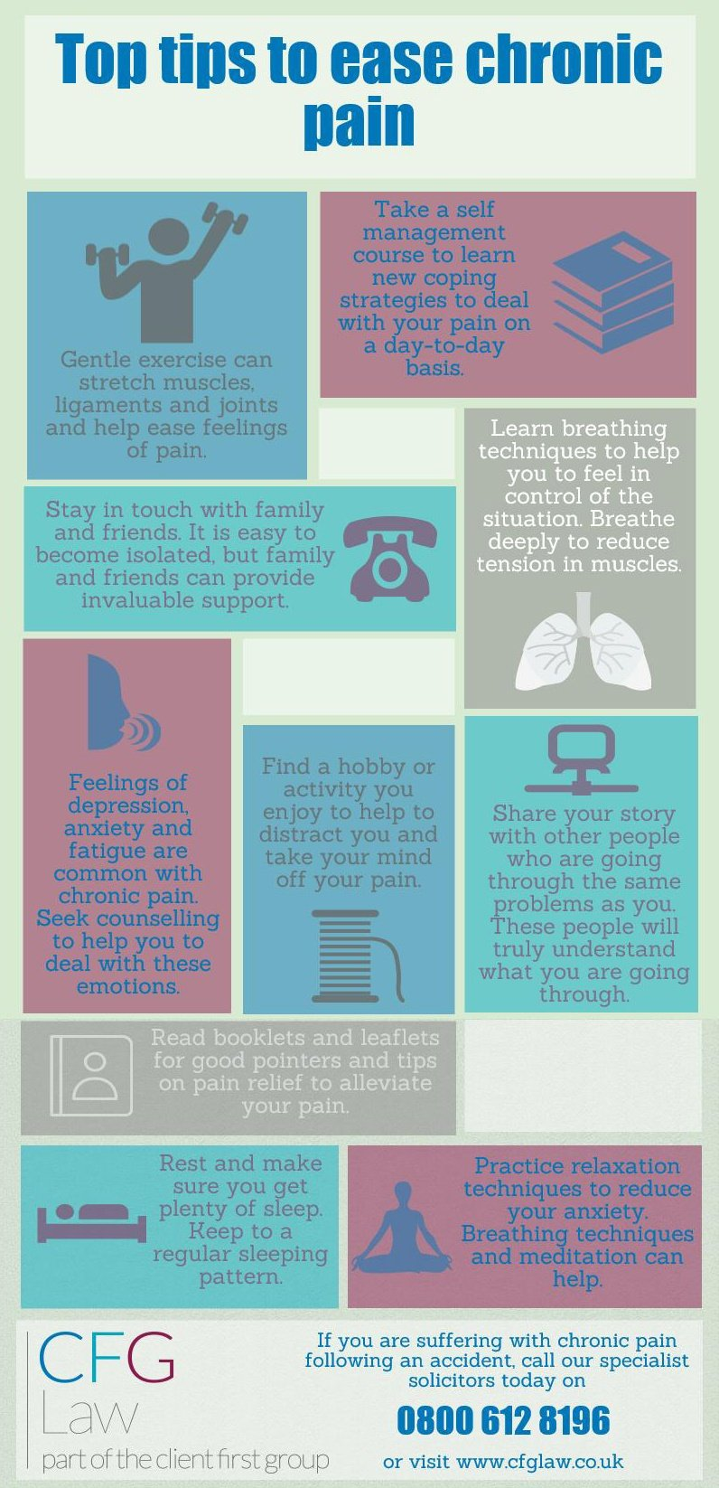 Infographic: Top tips to ease chronic pain