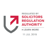 We are authorised and regulated by the Solicitors Regulation Authority. SRA number 469926