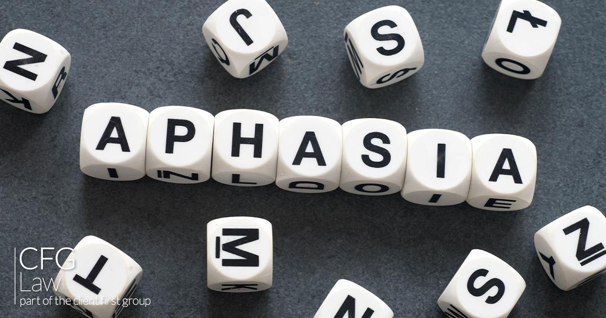 Battling aphasia following a brain injury.