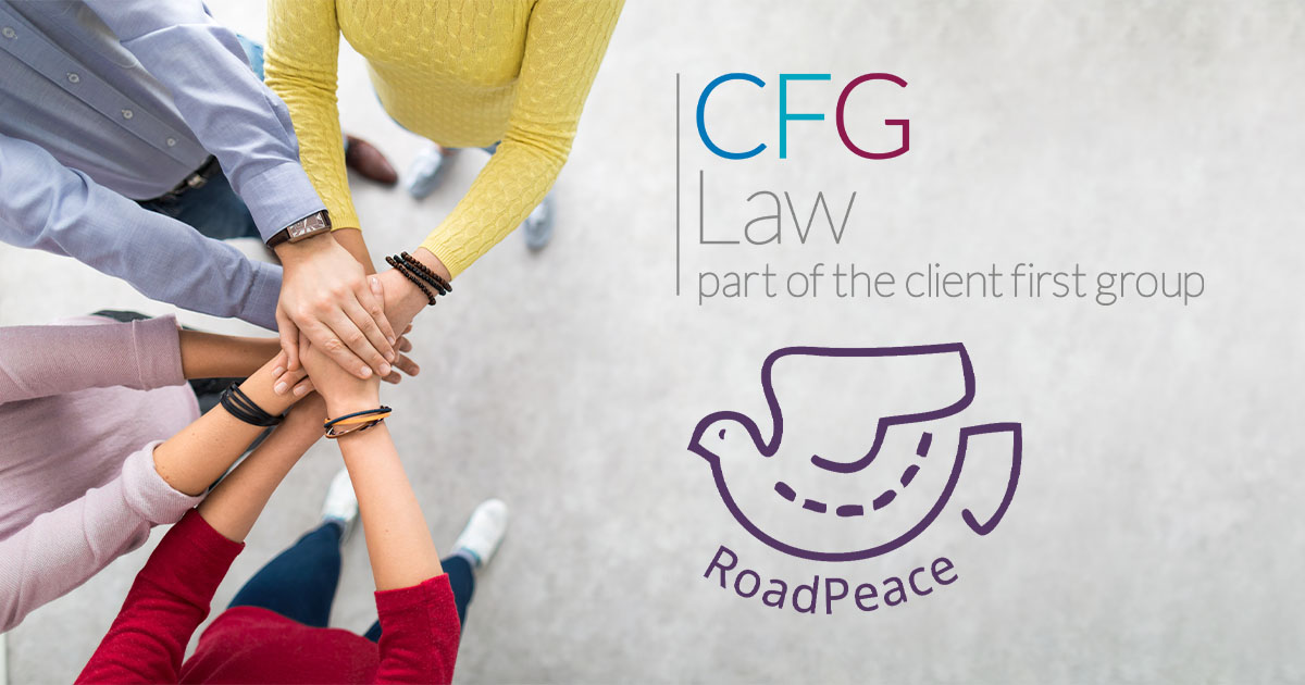 We're excited to announce we will be working with Roadpeace in the West Midlands | CFG Law